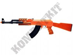 P48 BB Gun AK47 Style Airsoft Spring Rifle 2 Tone Orange Black